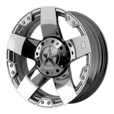 XD Series by KMC Wheels XD775 ROCKSTAR Chrome Plated wheel (16X6, 8x170, 125.50, -134 offset)