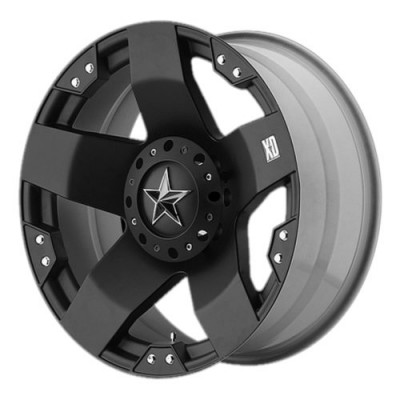 XD Series by KMC Wheels XD775 ROCKSTAR Matte Black wheel (20X12, , 78.30, -44 offset)