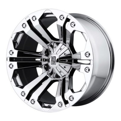 XD Series by KMC Wheels XD778 MONSTER Chrome Plated wheel (18X9, 5x114.3/127, 72.60, 18 offset)