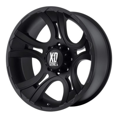 XD Series by KMC Wheels XD801 CRANK Matte Black wheel (20X9, 8x180, 124.20, 0 offset)