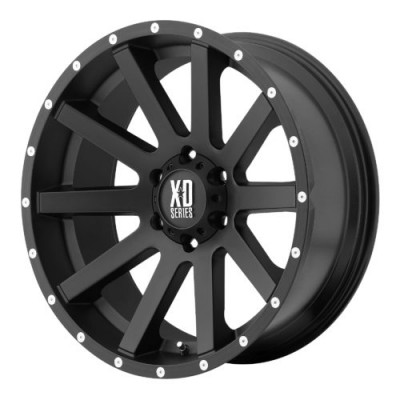 XD Series by KMC Wheels XD818 HEIST Machine Black wheel (16X8, 6x114.3, 72.60, 10 offset)