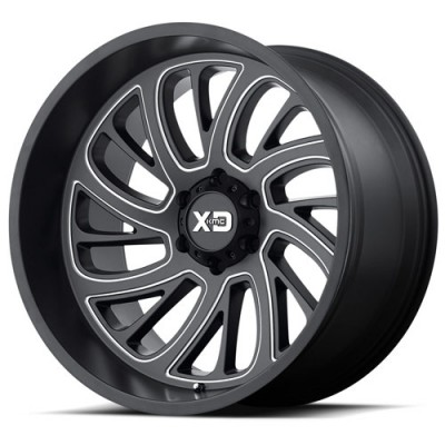 XD Series by KMC Wheels XD826 SURGE Machine Black wheel (20X12, 5x127, 78.30, -44 offset)