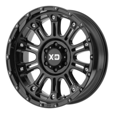 XD Series by KMC Wheels XD829 HOSS II Gloss Black wheel (20X10, 5x127, 72.60, -24 offset)