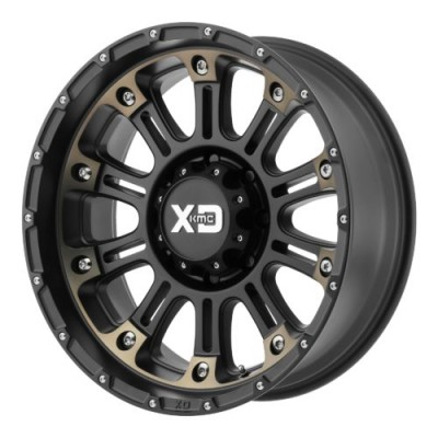 XD Series by KMC Wheels XD829 HOSS II Machine Black wheel (20X10, 5x127, 72.60, -24 offset)