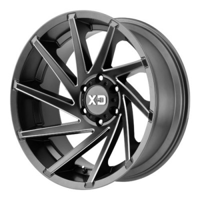 XD Series by KMC Wheels XD834 CYCLONE Machine Grey wheel (18X9, 8x170, 125.50, 0 offset)