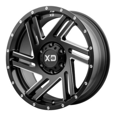 XD Series by KMC Wheels XD835 SWIPE Machine Black wheel (20X10, 5x127, 72.60, -18 offset)