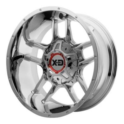 XD Series by KMC Wheels XD839 CLAMP Chrome Plated wheel (20X12, , 78.30, -44 offset)