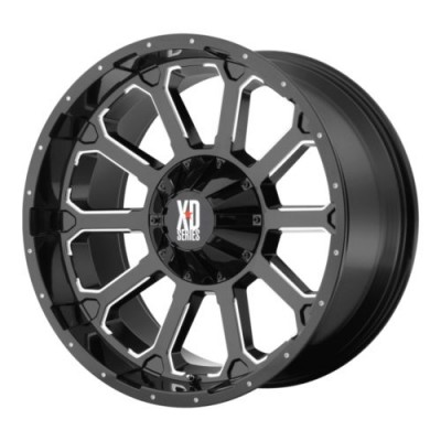 XD Series XD806 BOMB Gloss Black Machine wheel (18X9, 5x127/135, 87.1, 0 offset)