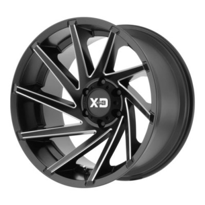 XD Series XD834 CYCLONE Black Machine Lip wheel (20X9, 5x139.7, 78, -12 offset)