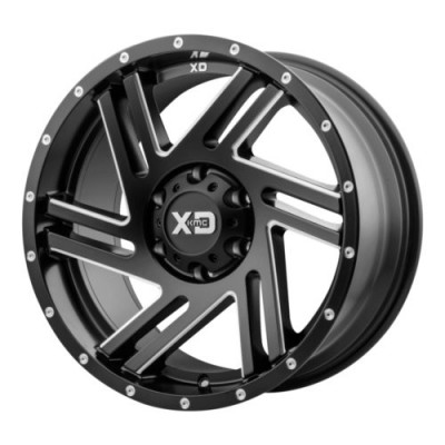 XD Series XD835 SWIPE Black Machine Lip wheel (20X9, 6x135, 87.1, 40 offset)
