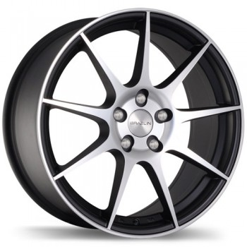 Braelin BR04, Matte Black with Machined Face/Noir mat avec façade machinée, 18X9.0, 5x120 (offset/deport 25), 60.1