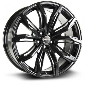 RTX Wheels Black Widow, Noir Satine/Satin Black, 17X7.5, 5x112 ( offset/deport 42), 66.6
