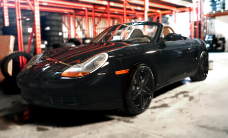 Porsche Boxster with KMC Rockstar wheels
