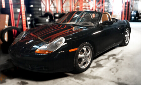 Porsche Boxster with original wheels