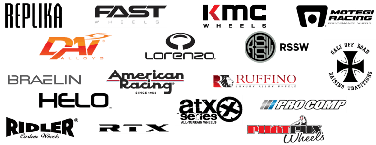 Change the look of your car with wheels of major brands including Dai, Fast Wheels, RSSW, RTX, RWC, Replika, etc.